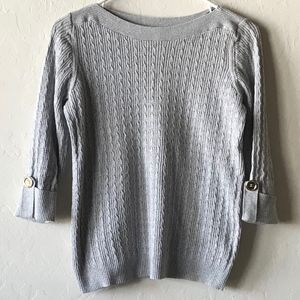 GRAY / GREY SWEATER BY KAREN SCOTT!
